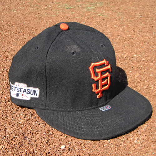 Photo of San Francisco Giants - Game-Used Postseason Cap - WC - Conor Gillaspie #21 (7 3/8) - Game Winning 3 run HR in the 9th