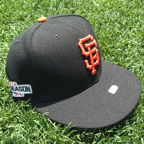 Photo of San Francisco Giants - Team Issued Postseason Cap - Eli Whiteside