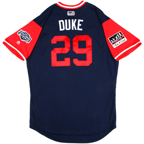"Photo of St. Louis Cardinals Game-Used Little League Classic Jersey -  Zack ""Duke"" Duke #29"