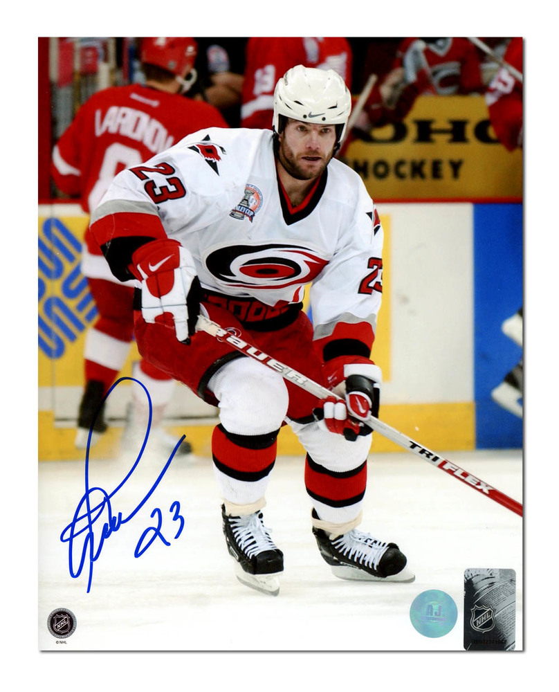 Martin Gelinas Carolina Hurricanes Autographed Stanley Cup Action 8x10 Photo