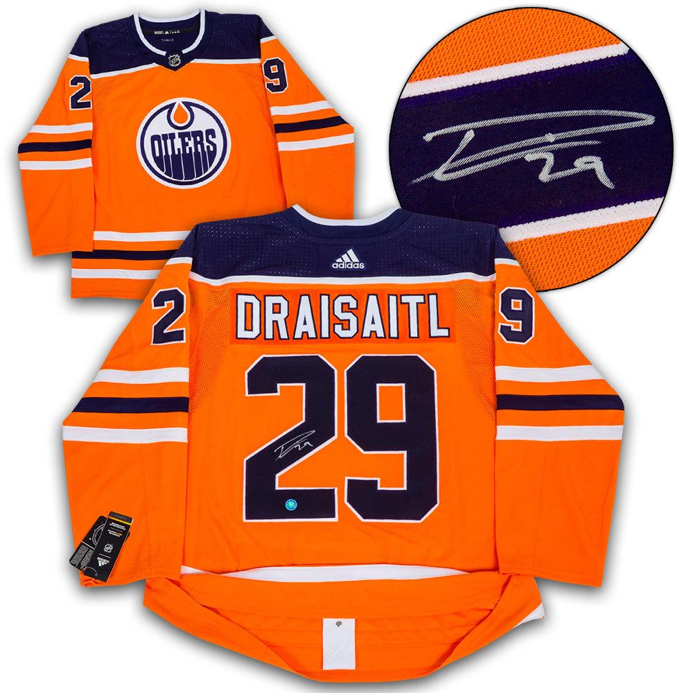 Leon Draisaitl Edmonton Oilers Autographed Adidas Authentic Hockey Jersey