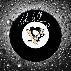 John Leclair Pittsburgh Penguins Autographed Puck