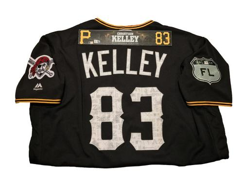 Photo of Christian Kelley Game-Used Spring Training Jersey and Locker Name Plate