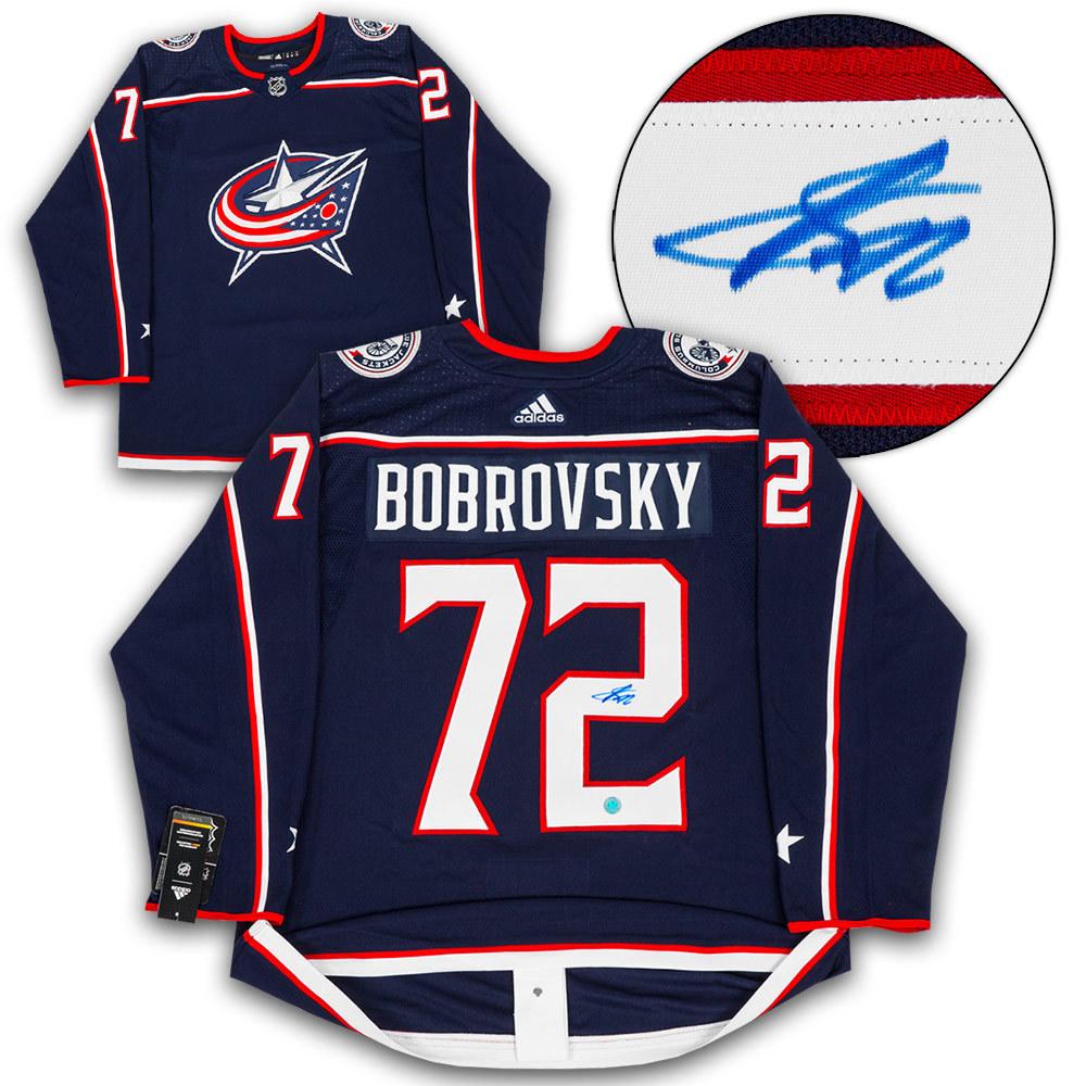 Sergei Bobrovsky Columbus Blue Jackets Signed Adidas Authentic Hockey Jersey