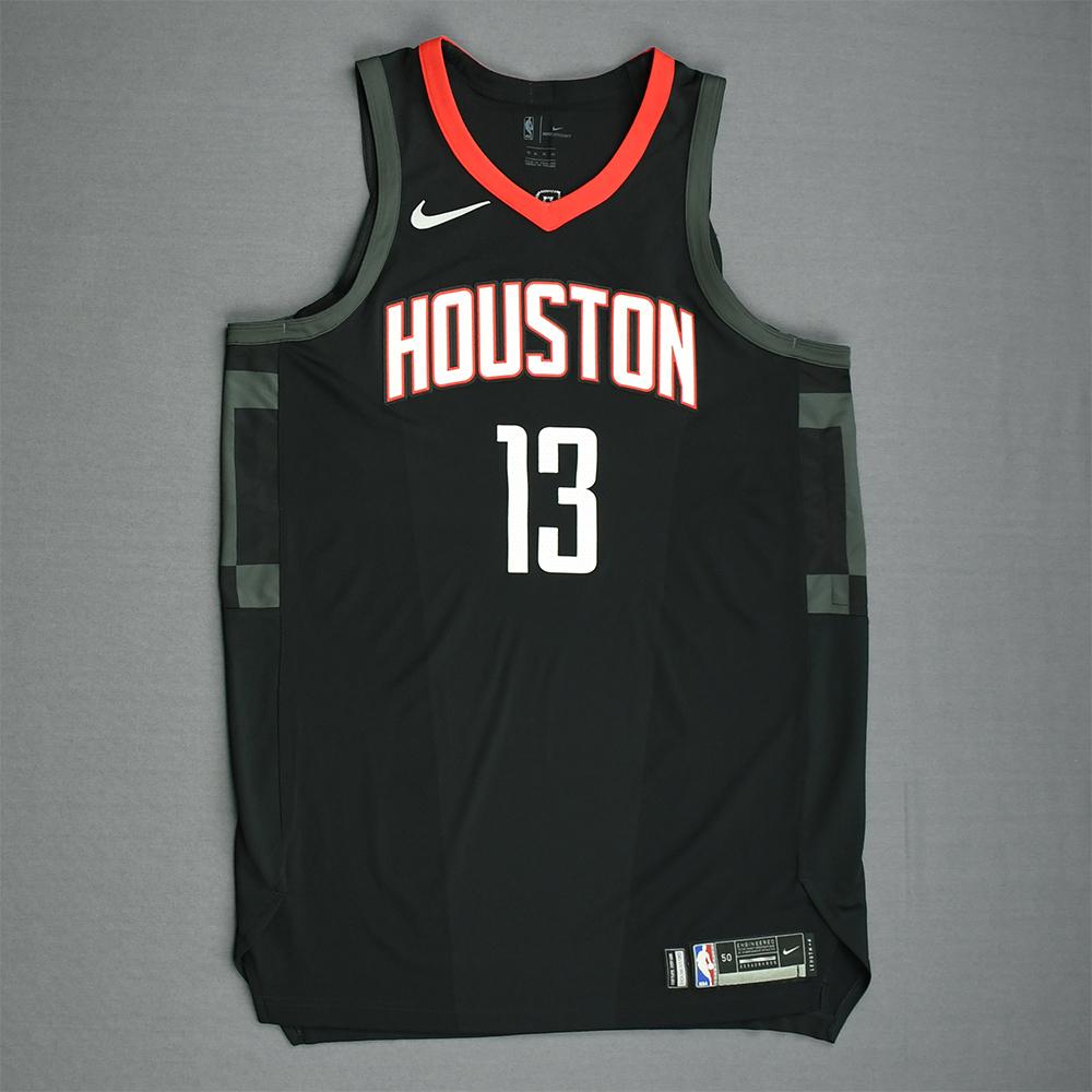 James Harden - Houston Rockets - Game-Issued 'Statement' Jersey - 2017-18 Season