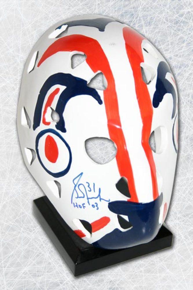 Grant Fuhr Edmonton Oilers Autographed Replica 6 inch Vezina Goalie Mask