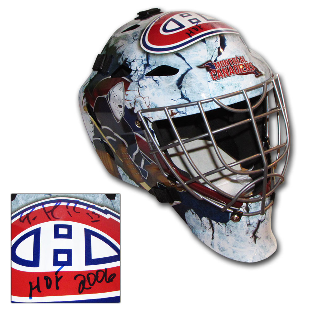 Patrick Roy Autographed Montreal Canadiens Replica Goalie Mask w/HOF 2006 Inscription