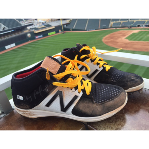 Photo of Support Pediatric Cancer: Children's Cancer Awareness Game-Used Cleats Worn and Autographed by Jorge Polanco