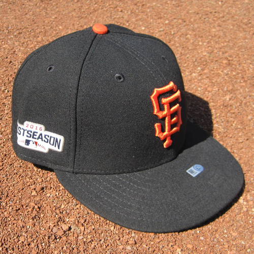 Photo of San Francisco Giants - Game-Used Postseason Cap - WC & NLDS - Buster Posey #28 (7 1/4)