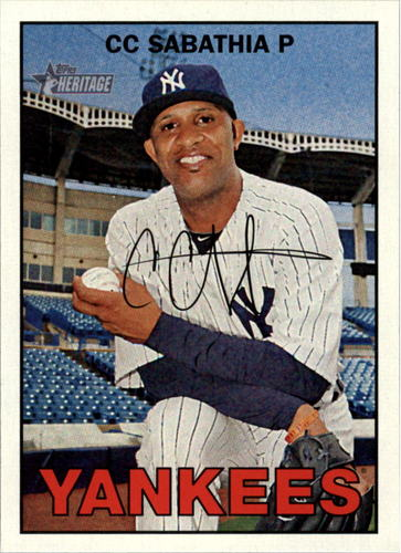 Photo of 2016 Topps Heritage #415 CC Sabathia -- Yankees post-season