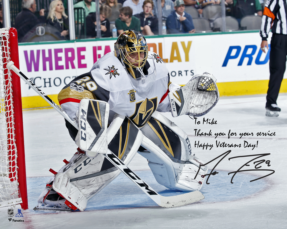 Marc-Andre Fleury Vegas Golden Knights Autographed Personalized 8