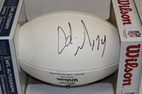 PATRIOTS - ADRIAN WILSON SIGNED PANEL BALL W/ CHARITABLE FOUNDATION LOGO