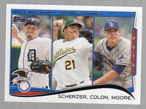 Photo of 2014 Topps #299 Max Scherzer/Bartolo Colon/Matt Moore LL