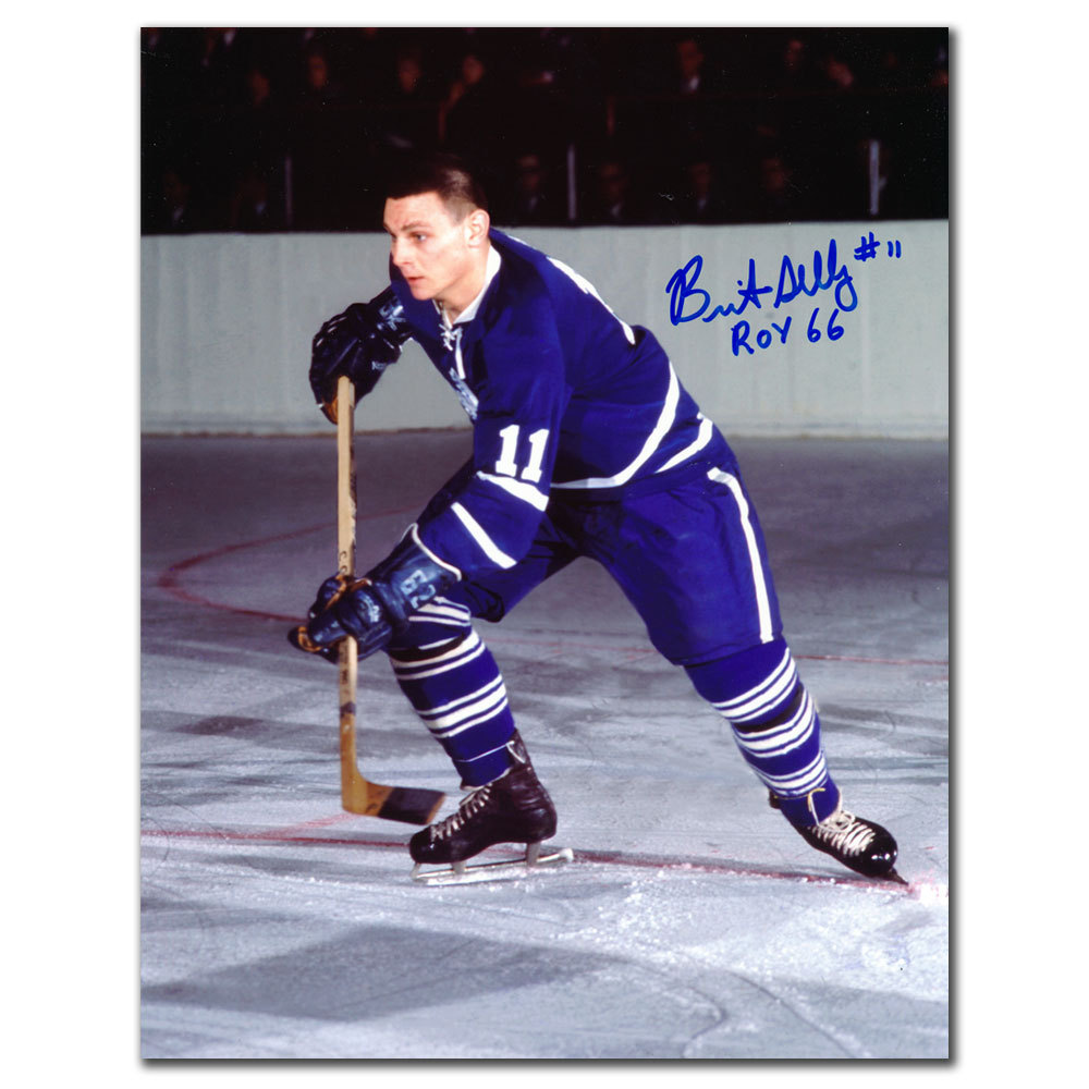 Brit Selby Toronto Maple Leafs 1966 ROY Autographed 8x10