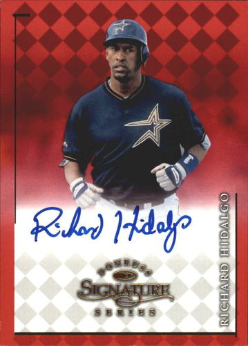 Photo of 1998 Donruss Signature Autographs #43 Richard Hidalgo/3400*