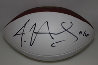 NFL - FALCONS JUSTIN HARDY SIGNED PANEL BALL (SMUDGES ON SIGNATURE)