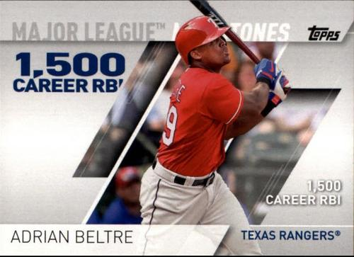 Photo of 2017 Topps Major League Milestones #MLM11 Adrian Beltre
