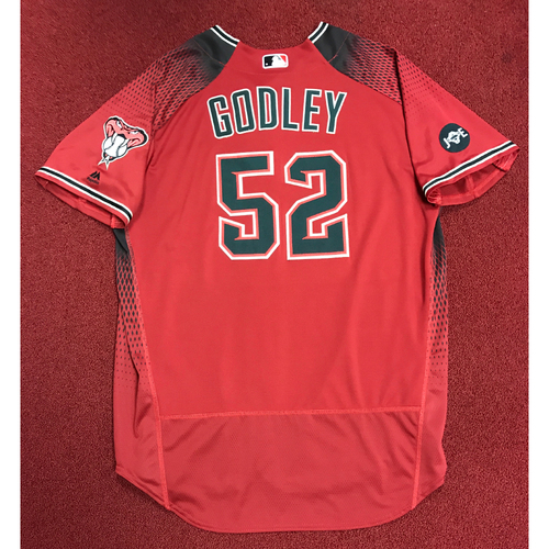 Photo of Zack Godley Game-Used Red Alternate Jersey