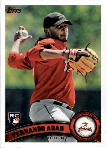 Photo of 2011 Topps #491 Fernando Abad Rookie Card -- Red Sox post-season