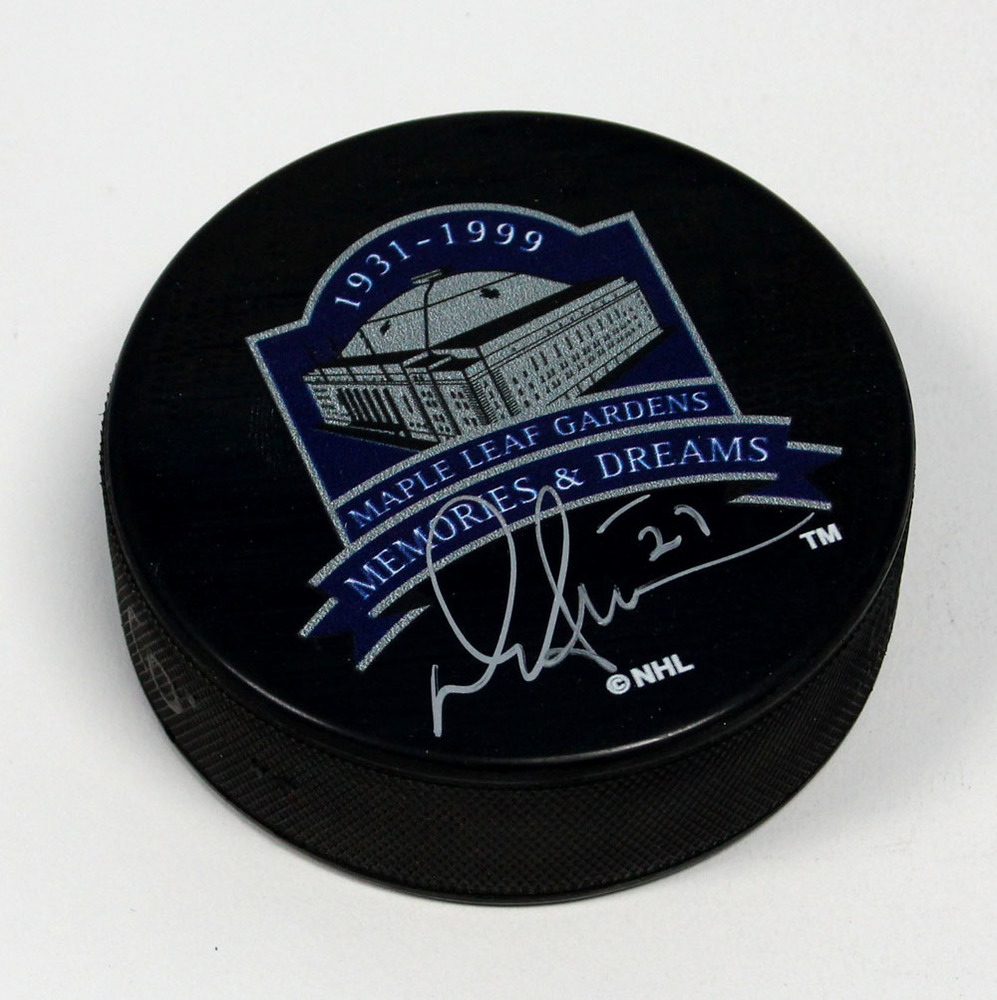 Darryl Sittler Toronto Maple Leafs Autographed MLG Memories & Dreams Hockey Puck