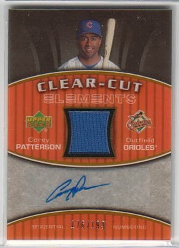 Photo of 2007 Upper Deck Elements Clear Cut Elements Bronze #CP Corey Patterson