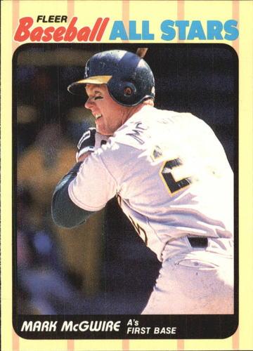 Photo of 1989 Fleer Baseball All-Stars #29 Mark McGwire