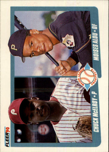 Photo of 1990 Fleer #650 Chuck McElroy/Moises Alou RC