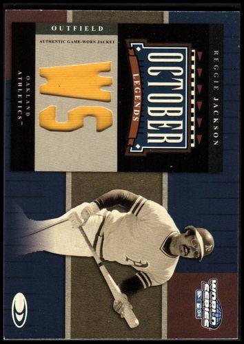 Photo of 2004 Donruss World Series October Legends Material #15 Reggie Jackson Jkt/100