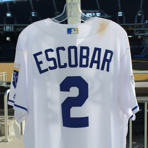 Photo of Alcides Escobar Game-Used Jersey (9/27/2016 - MIN at KC) (Size 46)