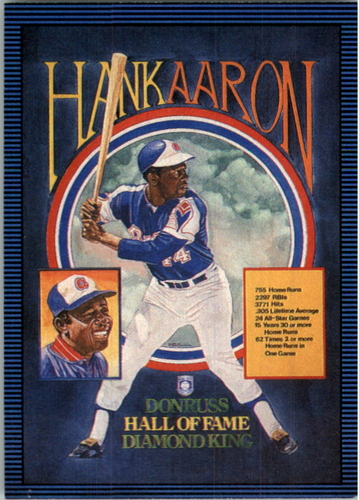 Photo of 1986 Leaf/Donruss #259 Hank Aaron Puzzle Card