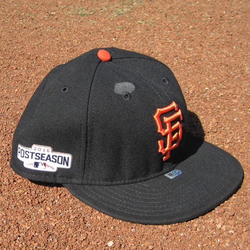 Photo of San Francisco Giants - Game-Used Postseason Cap - WC - Brandon Crawford #35 (7 3/8)