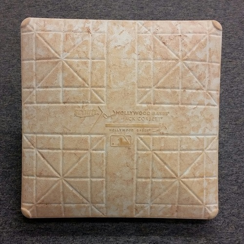 Photo of Authenticated Game Used 2nd Base from August 2nd @ Houston Astros. - Jose Bautista hits 300th career HomeRun.