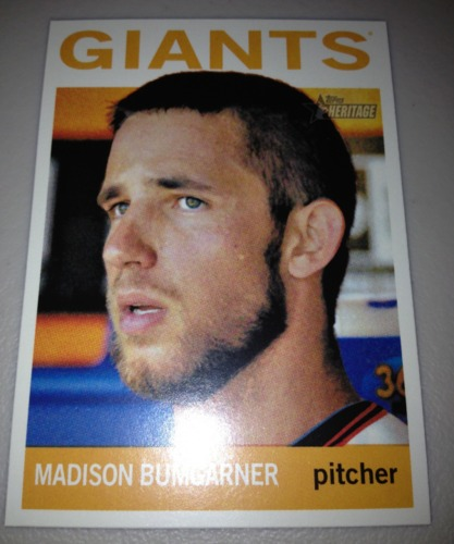 Photo of 2013 Topps Heritage #478 Madison Bumgarner SP