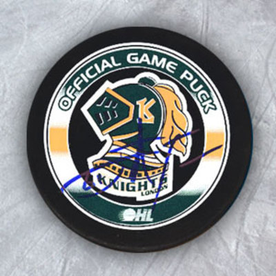 JOHN TAVARES London Knights Autographed Hockey Puck