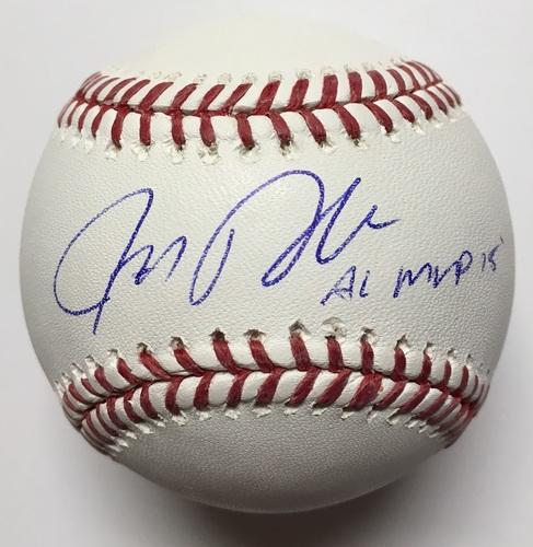 "Photo of Josh Donaldson Autographed ""AL MVP 15"" Baseball"