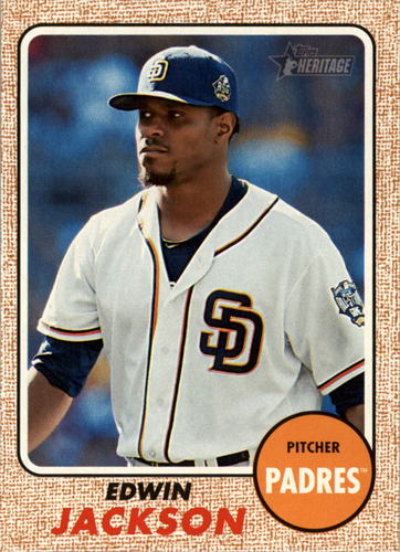 Photo of 2017 Topps Heritage #194 Edwin Jackson