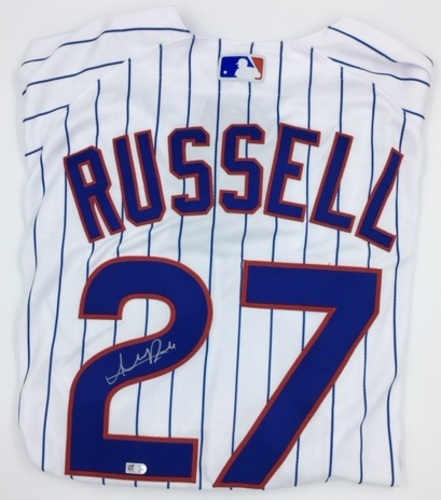 Photo of Addison Russell Autographed Authentic Cubs Jersey