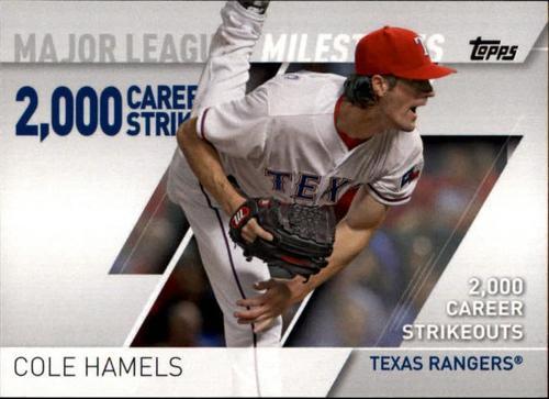 Photo of 2017 Topps Major League Milestones #MLM16 Cole Hamels