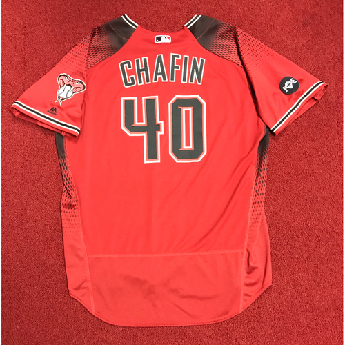 Photo of Andrew Chafin Team-Issued Red Alternate Jersey
