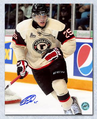 Mikhail Grigorenko Quebec Remparts Autographed CHL 8x10 Photo