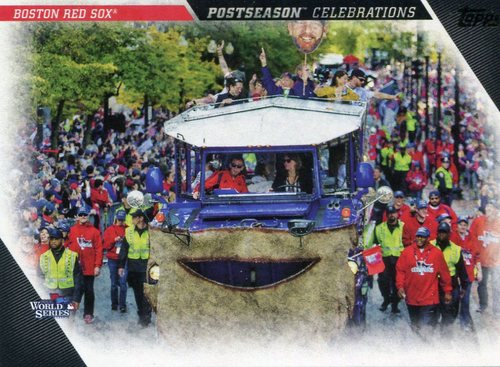 Photo of 2017 Topps Update Postseason Celebration #PC20 Boston Red Sox