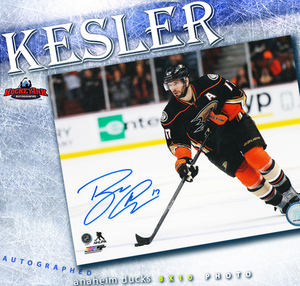 RYAN KESLER Signed Anaheim Ducks 8 X 10 Photo - 70362