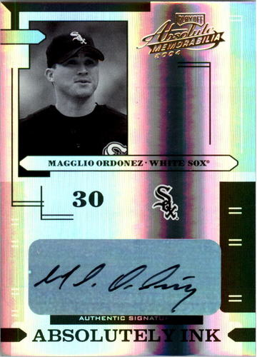 Photo of 2004 Absolute Memorabilia Absolutely Ink Spectrum #78 Magglio Ordonez/25