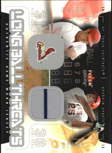 Photo of 2003 Fleer Genuine Longball Threats Single Swatch #12B T.Glaus Jsy-Rolen