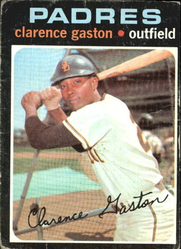 Photo of 1971 Topps #25 Clarence Gaston