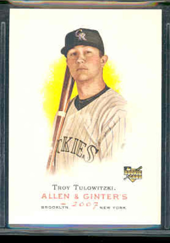 Photo of 2007 Topps Allen and Ginter #75 Troy Tulowitzki (RC)