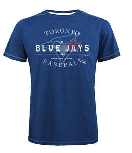 Toronto Blue Jays Triblend Contrast T-Shirt Royal by Majestic Threads