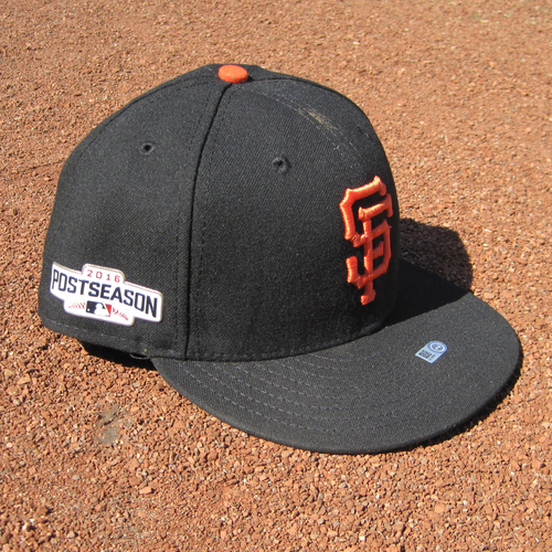 Photo of San Francisco Giants - Game-Used Postseason Cap - WC & NLDS - Hunter Pence #8 (7 3/8)