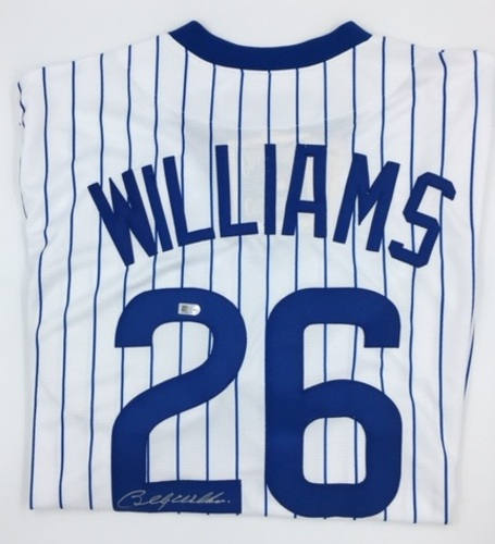 Photo of Billy Williams Autographed Cubs Jersey