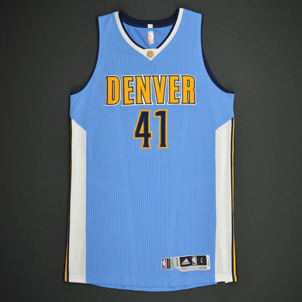 Juan Hernangomez - Denver Nuggets - Game-Issued Rookie Season Jersey - 2016-17 Season